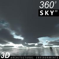 Sky 3D Clouded 008
