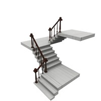 3ds max staircase ready