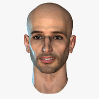3d hairless male head 12