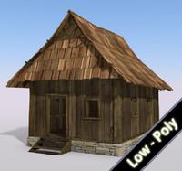 free wooden cabin 3d model