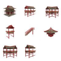 fbx modular asian temple