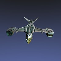 3d model bomber spaceship