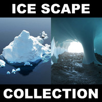 3d model iceberg ice landscape