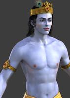 3d krishna lord model