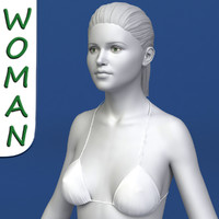 3d model of realistic woman modeled female body