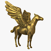 pegasus mythical flying 3d model