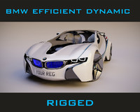 bmw efficient dynamic rigged 3d model