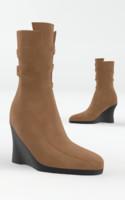3d boots cloth model