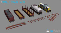 3d model small train pack