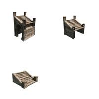3d fbx modular stairs