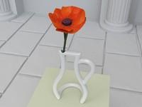 3d contour flower vase model