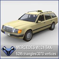 3d model w124 taxi