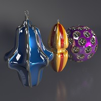 cad christmas tree decoration 3d obj