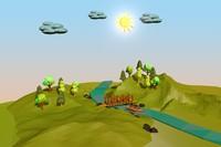 3d model landscape tree scene