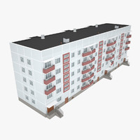 3d soviet apartment house model