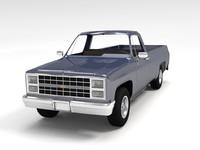 american chevrolet silverado c10 3d model