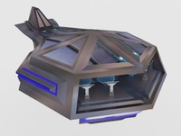 3d model fighter ship