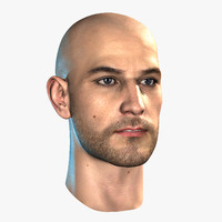 hairless male head realtime max