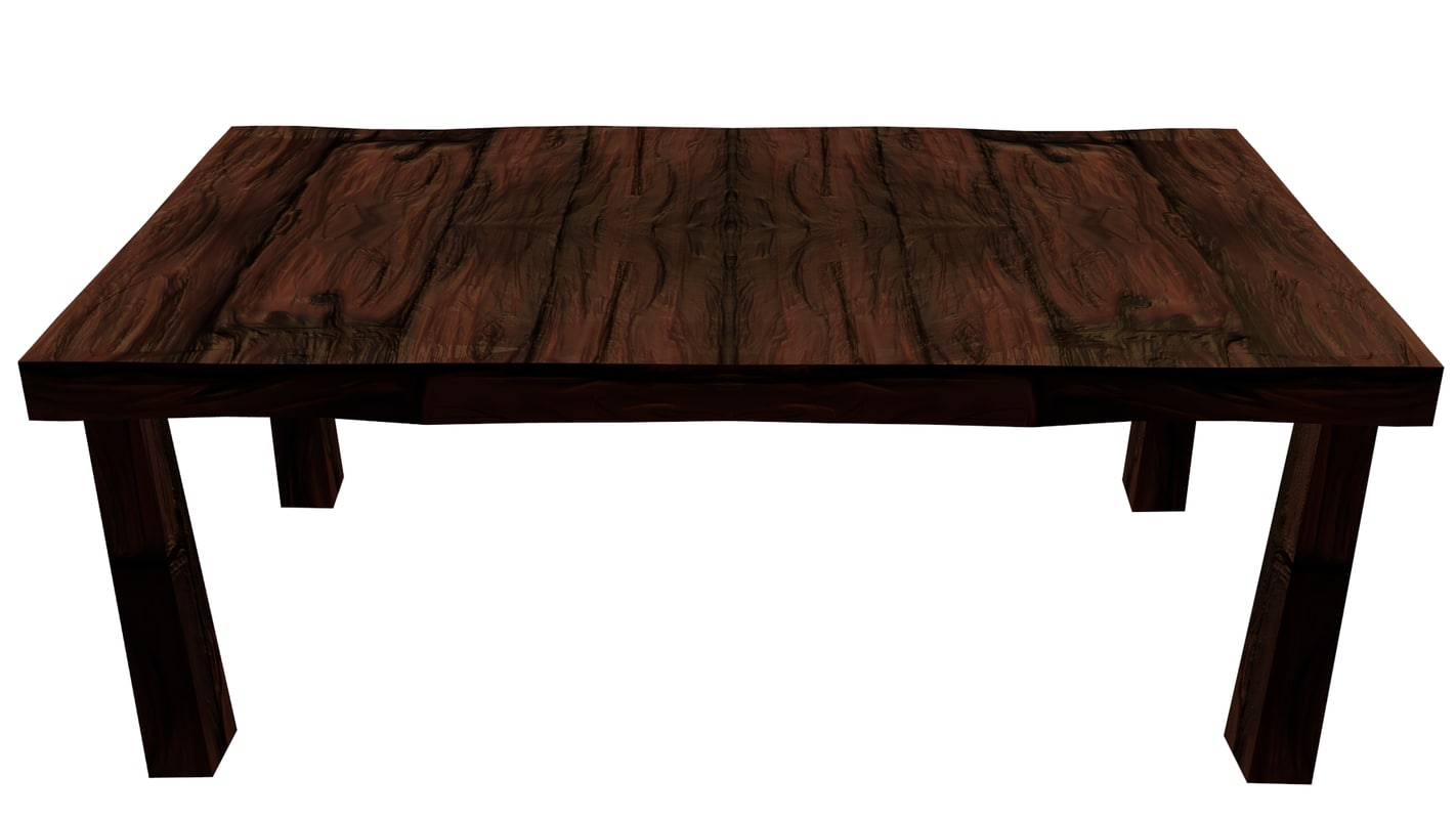 wood table low poly