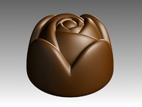 3d model rose chocolate
