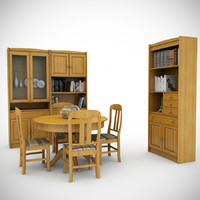 3d model group 90 s furniture