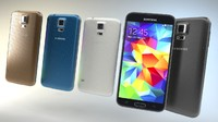 Samsung G900F Galaxy S5 all colors, very detailed