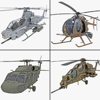 military helicopter 3d obj