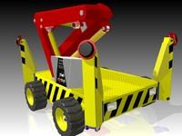 3dsmax articulated crane
