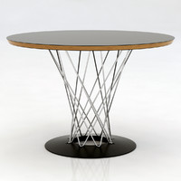 3d noguchi circular table model