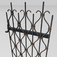 3d model metal garden gate