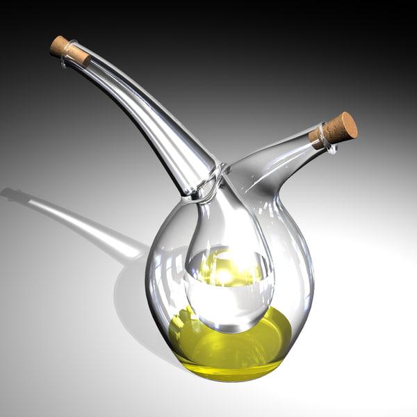 mojoo vinegar cruet oil 3d 3dm