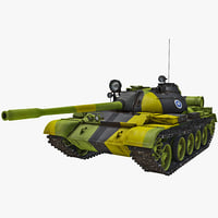 soviet union main battle tank 3d model
