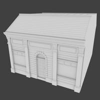 store facade exterior 3d model