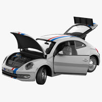 Volkswagen Beetle 2012 Race Car Rigged