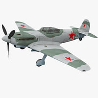 Yakovlev Yak-9 Soviet World War II Fighter 2 Rigged