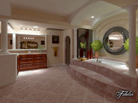 bathroom scene 3d 3ds