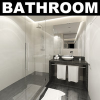 3d model hotel bathroom