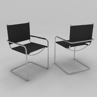 free metal frame chair 3d model