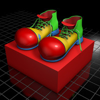 3d shoes clown model
