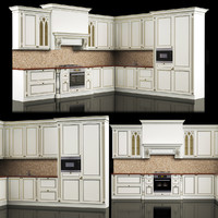 3d model kitchen classic