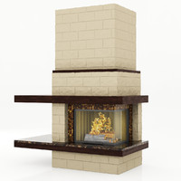marble fireplace 3d obj
