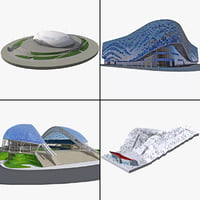 3d 2014 winter olympics venue model