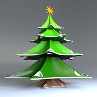 stylish xmas tree design 3d model
