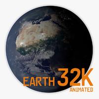 3d planet earth 32k