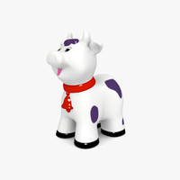 3d model of happy cow