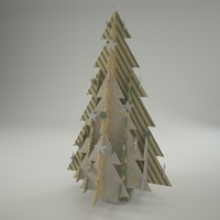 3d ecofriendly christmass tree model