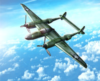 3d model p-38 lightning aircraft military