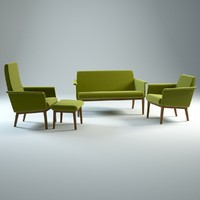 lazy swedese sofa armchair 3d max