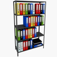 folder and shelf