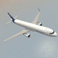 3d model of sharkleted a321neo house livery
